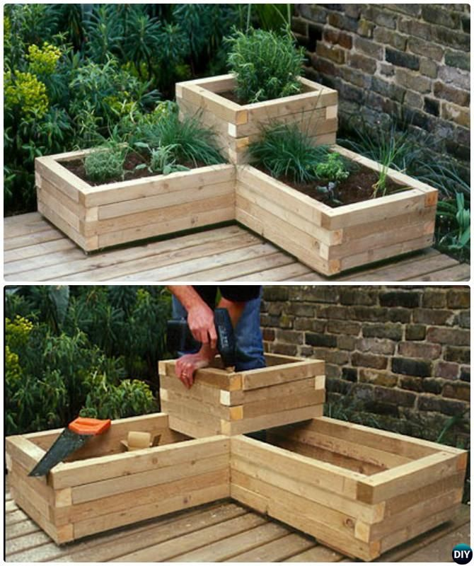 garden planters 20+ diy raised garden bed ideas instructions [free plans] ARBDJYE
